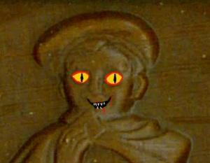 Petit Ecolier evil face