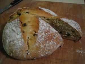 Irish soda bread sliced
