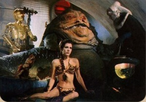 Jabba and leia