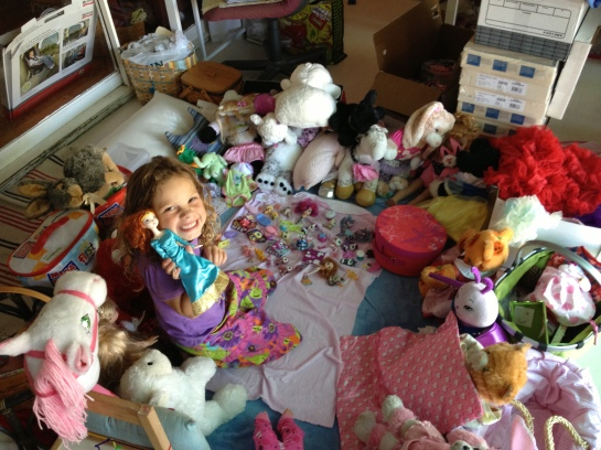 CH surrounded by stuffies